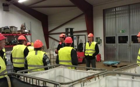 Högsby företagare besökte återvinningen vid Skrotfrag i Oskarshamn !