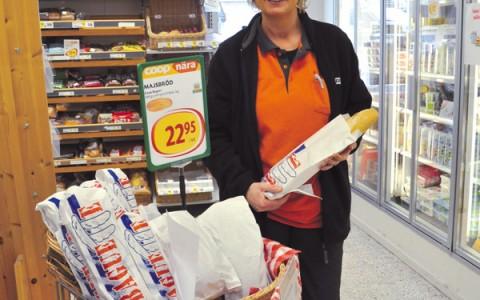 Maria till butiken i Berga