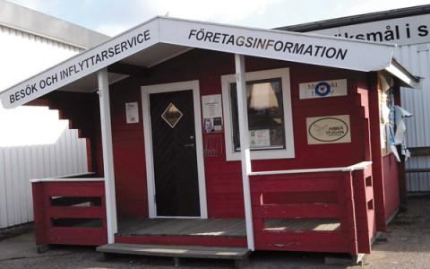 Informationsstugan säljes vid Varuhus-området i Högsby