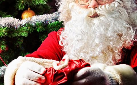 Tomten på väg till julmarknaden, välkommen du också