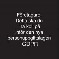 GDPR – Detta ska du ha koll på  inför nya personuppgiftslagen