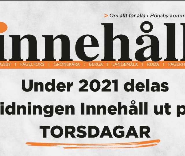 Utgivningsplan Innehåll Högsby 2021