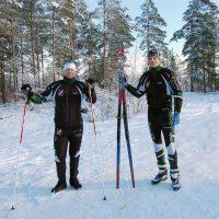 Skidfantaster glada över årets första snö